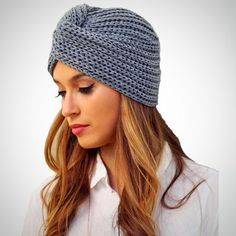 f4424a36992c5 Warm Knit Turban Cross Twist Beanie Hat