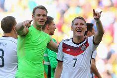 Im Halbfinale: Manuel Neuer und Bastian Schweinsteiger