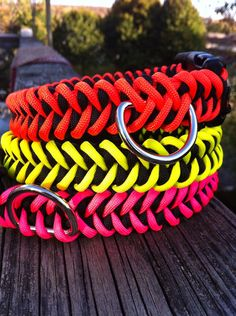 Strong Paracord Dog Collar in a sharktooth weave by CJWOODCRAFTS, $11.00