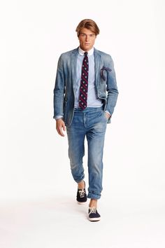 Ralph Lauren menswear, spring/summer 2015, New York Fashion Week. That's a whole lot of denim