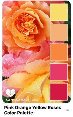 Color Palette: Fantastic Florals — Paper Heart Design Source by toviahcrowell Color Schemes Colour Palettes, Colour Pallette, Color Combos, Orange Palette, Orange Color Schemes, Orange Color Palettes, Best Color Combinations, Summer Color Palettes, Bedroom Colour Palette