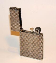 unused 1960's tiffany basket weave sterling silver pocket petrol lighter | eBay