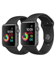 Apple Watch - Space Gray Aluminum Case with Black Sport Band - Apple Electronics Projects, Apple Watch Space Grey, Purchase History, Apple Watch Series 1, Retina Display, Smart Watch, Watches, Band, Stuff To Buy