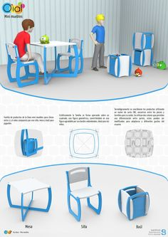 [diseño industrial UP industrial design] - Daily Good Pin Folding Furniture, Multifunctional Furniture, Modular Furniture, School Furniture, Kids Furniture, Furniture Design, Pop Up Karten, Interior Design Boards, Home Organization Hacks