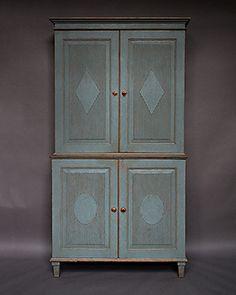 Swedish Antique Furniture Armoires & Cabinets Painted Scandinavian Danish German European