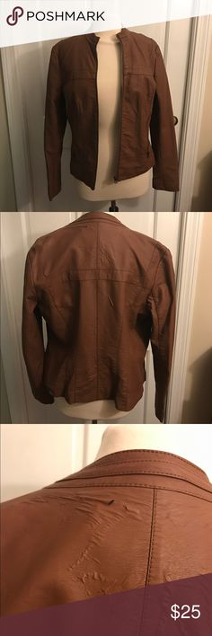 Ashley B by Bernardo faux leather jacket Good condition, some small tears in the back as pictured. Super soft leathery material and great addition to a winter wardrobe. Bernardo Jackets & Coats Blazers