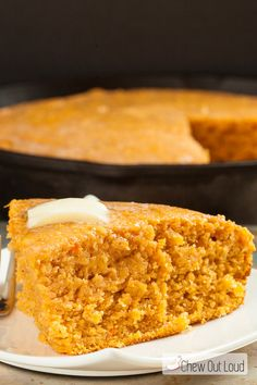 Cornbread is given an extra boost of fall flavors with roasted sweet potatoes. This Sweet Potato Cornbread is nutritious and a holiday-perfect dish! Sweet Cornbread Muffins, Honey Cornbread, Corn Muffins, Roasted Whole Sweet Potatoes, Buttery Shortbread Cookies, Roasted Butternut, Sweet Potato Recipes, Muffin Recipes, Cooking Recipes