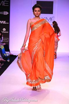Mandira Bedi #Saree Collection https://www.facebook.com/MandiraBediDesigns  at Lakme Fashion Week Summer/Resort 2014 #Lakme #fashion #chinaglaze #OPI #nailsinc #dior #orly #Essie #Nubar @opulentnails over 13,000 pins