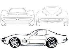 car drawings outline - Google Search