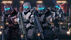 The aliens won't know what hit 'em. Of course, when the Republic Commando helmet mod was released, these guys instantly became my A-Team squad. And now they have the voices to match too!