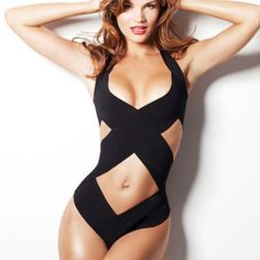 Women Ladies One-Piece Swimwear Bandage Monokini Swimsuit