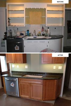 Fan photos from Keith, who fell in love with a kitchen he saw in a KraftMaid idea book and recreated the same look in his home. (Cherry cabinets in Honey Spice)