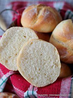 domowe-buleczki-kajzerki Little Bunny Foo Foo, Perfect Breakfast, Mellow Yellow, Sandwiches, Rolls, Food And Drink, Cooking Recipes, Bread, Baking