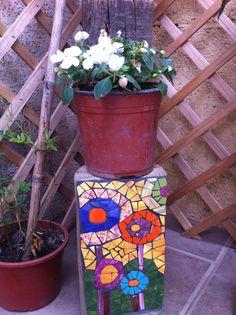 Tronco con mosaico