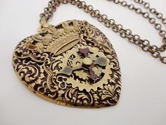A Steampunk Heart pendant from Kimberlee Turner, who is always steampunk at heart!  Find more from Kimberlee at Dr. Brassy Steamington at Etsy!