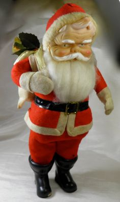 1950's Santa Claus with Toy Sack Decor  Made in by GreenGablesLane