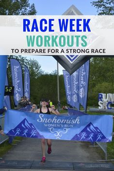 Sharpen your fitness and boost your confidence for race day with these race-specific race week workouts for the 5K to marathon.