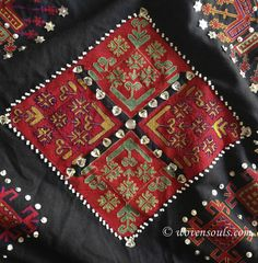 Antique Kohistan embroidery textile | WOVENSOULS.COM
