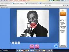 Louis Armstrong Blabberize Project Instructions