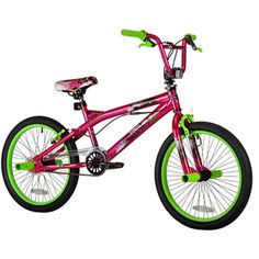 "20"" Kent, Trouble, BMX , Girls' Bike, Pink/Green cute bike from walmart for your baby girl or teen"