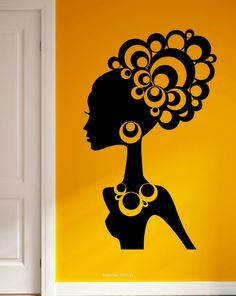 Our vinyl stickers are unique and one of a kind! Every sticker we sell is made per order and cut in house! We make our wall decals using superior quality interior and exterior glossy, removable vinyl Wall Stickers, Vinyl Decals, Wall Decals, Wall Art, Black Women Art, Black Art, Natural Hair Art, Africa Art, African American Art