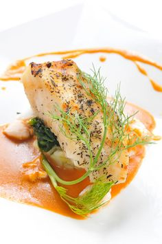 #ValentinesDay Menu: Baked Fish with Nutmeg and Paprika Lobster Sauce