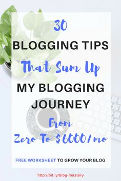 30 blogging tips that helped me grow from nothing to a hustling blog that generates more than $6000 per month. Get more subscribers and boost affiliate income. | increase affiliate income | get more subscribers | blogging tips for beginners | SEO tips | make money blogging | making money from home | earn money online | SAHM | #BloggingTips | #SEOtips | #Blogginggals #BBloggers via @swadhinagrawal