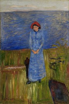 The Athenaeum - Woman with Red Hat in the Fjord (Edvard Munch - )