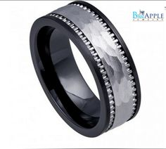 8mm Band Ring His Hers Wedding Engagement Men by BlueAppleJewelry