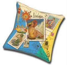 custom beach pillow