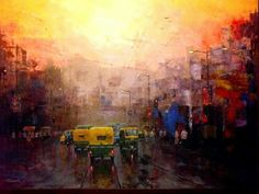 Good morning at Kolkata, India. An art work  All India Art Exhibition,Delhi  2015-16.
