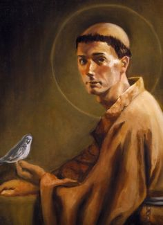 """""""St. Francis of Assisi """" - Mark Sanislo, Religious Painter"""