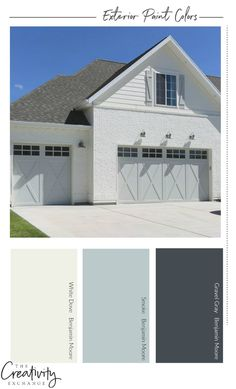 How to Choose the Right Exterior Paint ColorsYou can find Exterior paint colors and more on our website.How to Choose the Right Exterior Paint Colors Exterior Paint Color Combinations, House Paint Color Combination, Exterior Color Schemes, Design Exterior, Exterior Trim, Exterior Shades, Exterior Windows, Colour Schemes, Exterior Gray Paint