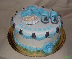 Christening cake for boy, krstinová torta pre chlapčeka
