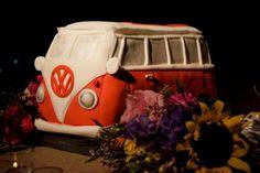VW bus wedding cake by Kim Yelvington at Chocolate Pi