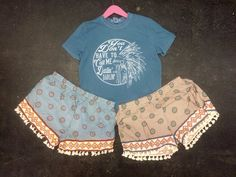 Umgee Printed Shorts With Tassels