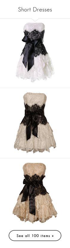 """Short Dresses"" by soledad-trinidad ❤ liked on Polyvore featuring dress, dresses, plus size black dress, women plus size dresses, plus size dresses, short black cocktail dresses, lace prom dresses, vestidos, short dresses and vestiti"