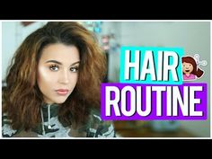 HAIR ROUTINE | HOW I STYLE MY THICK FRIZZY HAIR! - YouTube