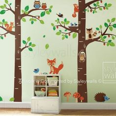 Tree Tops Woodland Critters Nursery Playroom Vinyl Wall Decal