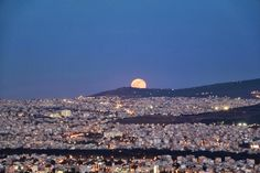 Elena Papa - Google+ - elena papa - beautiful full moon  in athens Greece