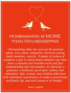 homemaking is more than housekeeping