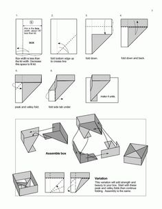 Strong Dual Tone Box from A4 paper - Useful Origami Tutorial by ... | 305x236