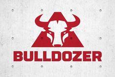 Bull Logo Bulldozer Construction  GraphicsMag