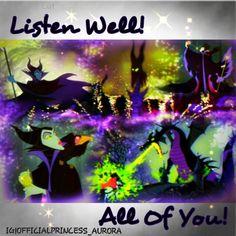Maleficent from Disneys Sleeping Beauty. Aurora and Maleficent are amazing. Prince Phillip is a bonus. I love Disney
