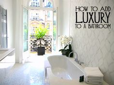 Many people want their bathrooms to be a place of peace and relaxation with luxurious surroundings.  Some people want a spa like bathroom or hotel bathroom, but most people just want their bathroom to to be their refuge at the end of the day.  Here are a few ways to add luxury to a bathroom and upgrade one of the most important rooms in your home.