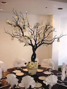 Decorated tree centerpiece