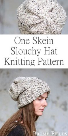 A strand hat knitting pattern: wisdom from Brome Fields . A strand hat knitting pattern: wisdom from Brome Fields Knitting ,. Knit Slouchy Hat Pattern, Beanie Knitting Patterns Free, Easy Knitting, Loom Knitting, Knit Patterns, Beginner Knitting, Knitted Headband Pattern, Loom Knit Hat, Knit Headband