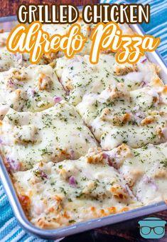 Pizza Recipes, Appetizer Recipes, Chicken Recipes, Dinner Recipes, Cooking Recipes, Dinner Ideas, Easy Recipes, Appetizers, Grilled Chicken Alfredo