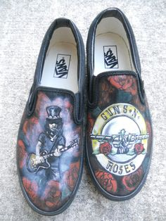 Custom Handpainted Shoes by monasmiled on Etsy, $120.00 Guns and Roses