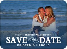 Beach And Seawater Photo Save The Dates HPS007